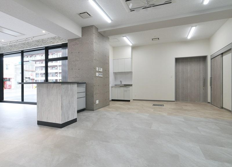 花の八幡屋 店舗・住宅新築工事 1F店舗